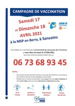 CAMPAGNE VACCINATION COVID19 SANCOINS